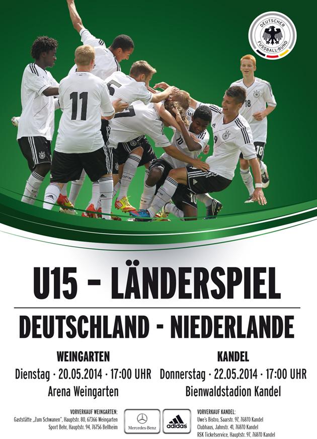 Plakatmotiv DFB U15 DT-NL